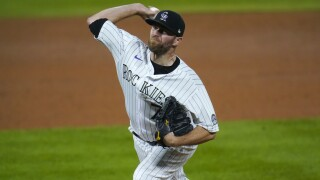 Colorado Rockies relief pitcher Wade Davis