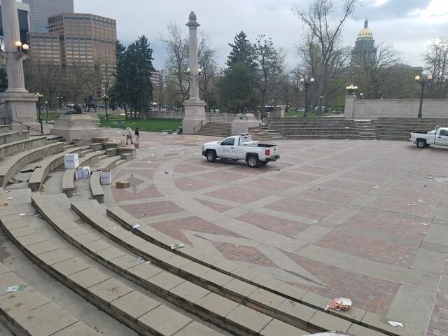 PHOTOS: Civic Center Park trashed after 4/20 festival