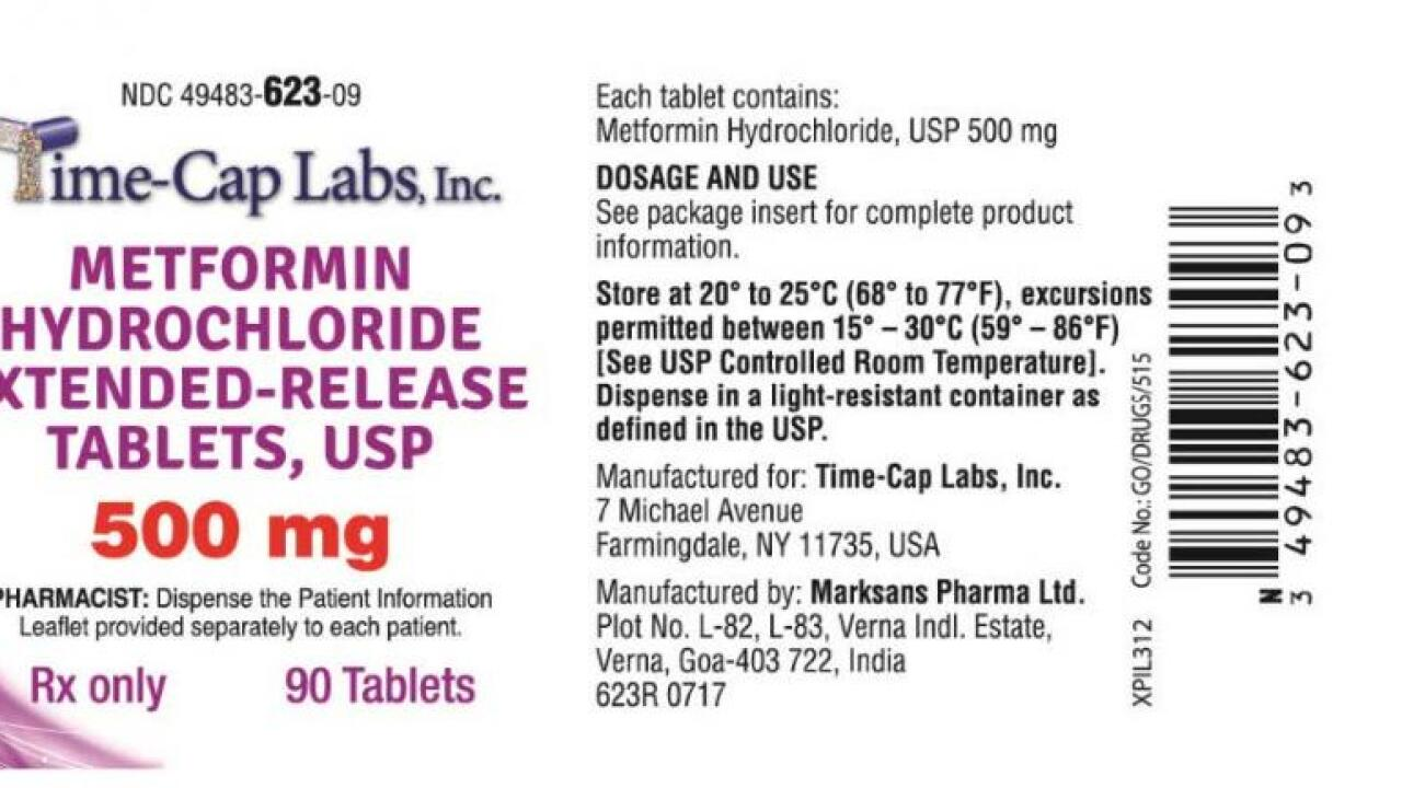 Diabetes drug recalled because of potential high levels of cancer-causing agent