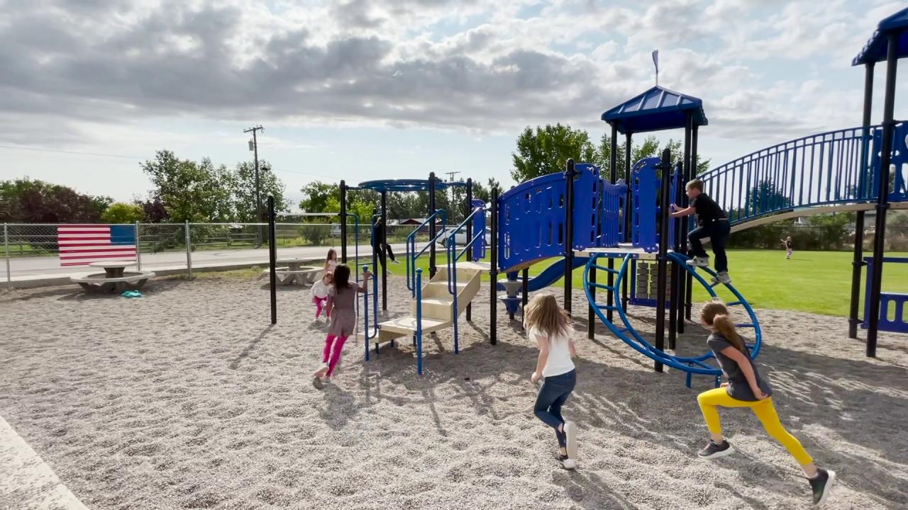 Ulm students enjoying Blue Hawk Park