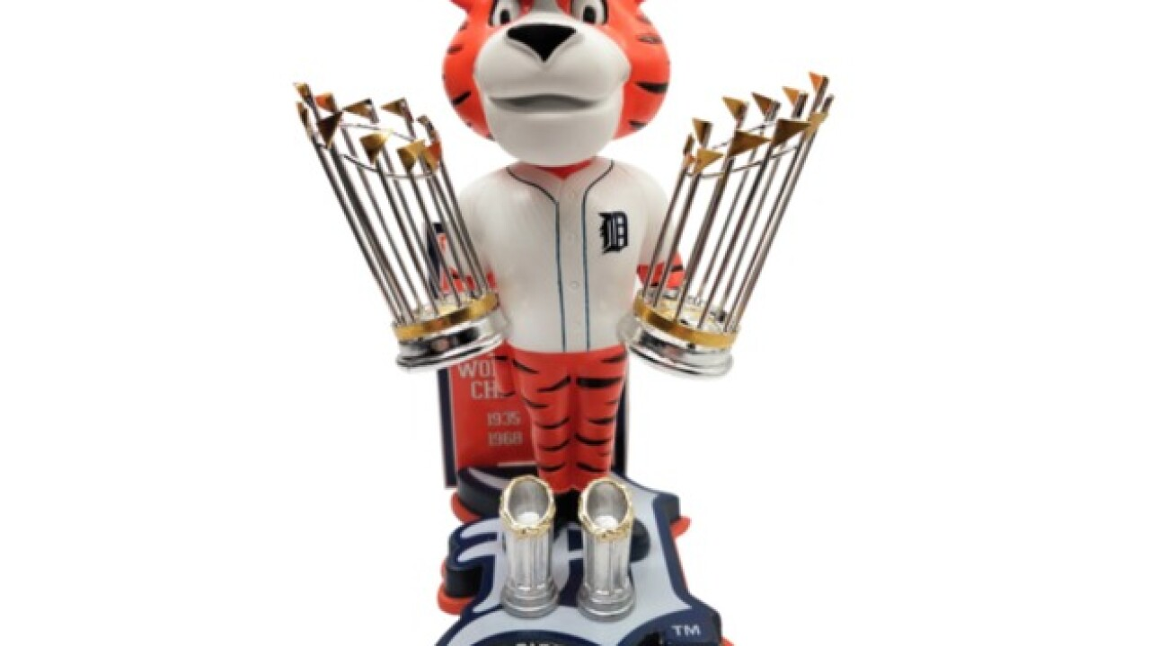 Detroit Tigers four-time World Series Champions bobblehead unveiled