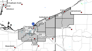 NWS Map of Winter Storm Warning