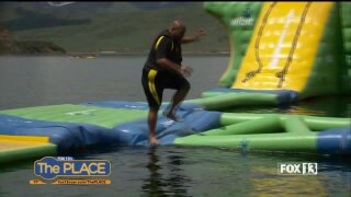 Budah stops at Island Aqua Park for Utah Adventures