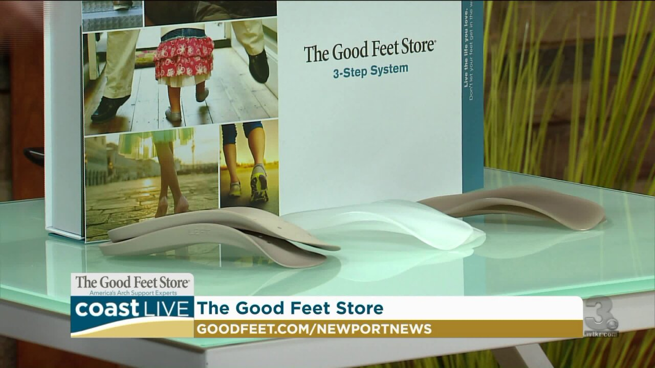 Taking a balance test with Good Feet on Coast Live