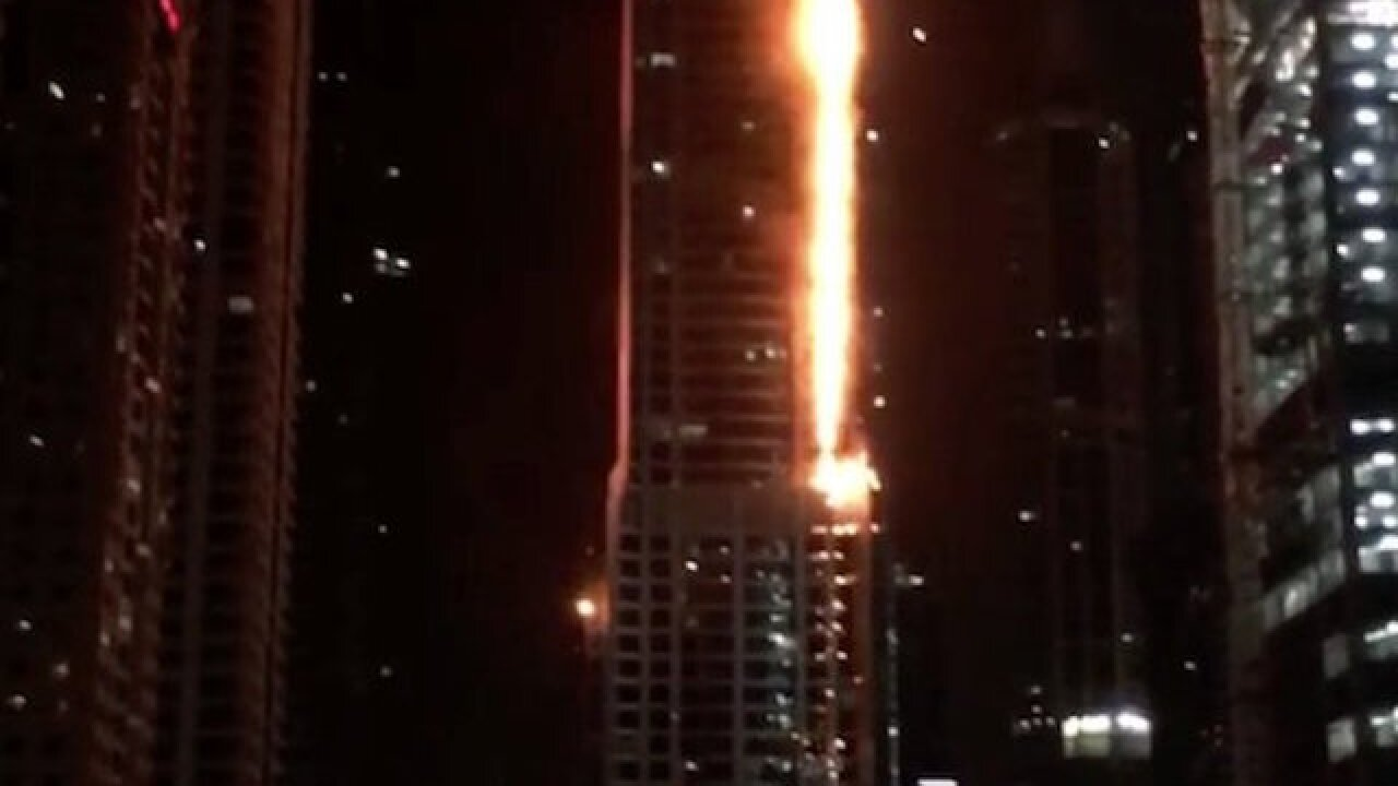 Dubai's Torch Tower — one of the world's tallest buildings — goes up in flames again