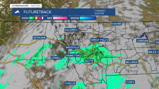 Monsoonal moisture means isolated storms for southwest Montana