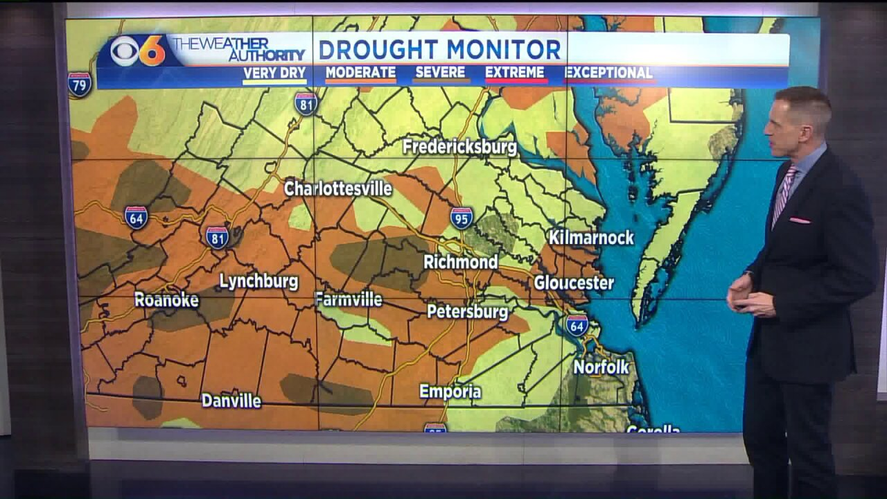 Parts of Virginia now in a severe drought