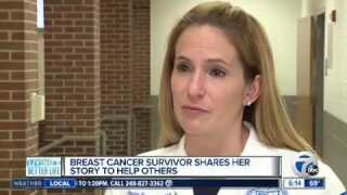 Breast cancer survivor shares her story to help others