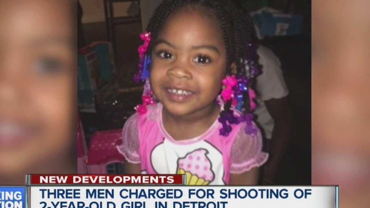 Three charged in shooting of 2-year-old girl