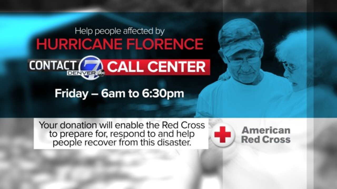Contact7, American Red Cross open call center for Hurricane Florence relief