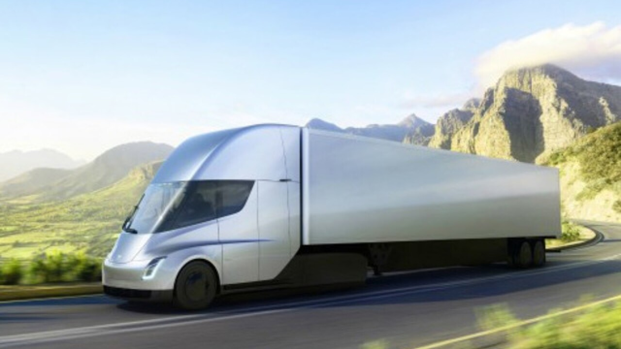Tesla unveils plan for electric semi trucks; Meijer places order