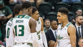 USF celebrates win over SMU