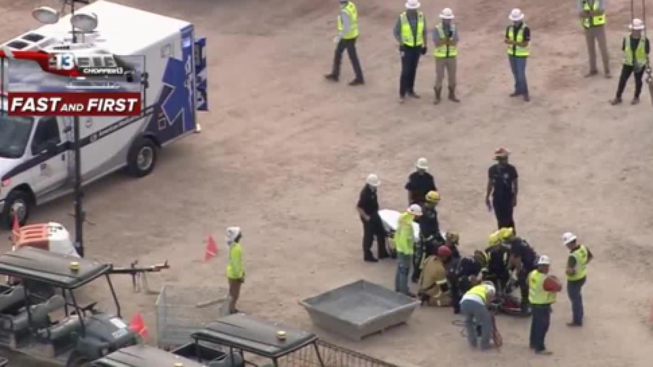 Worker injured at Vegas stadium site