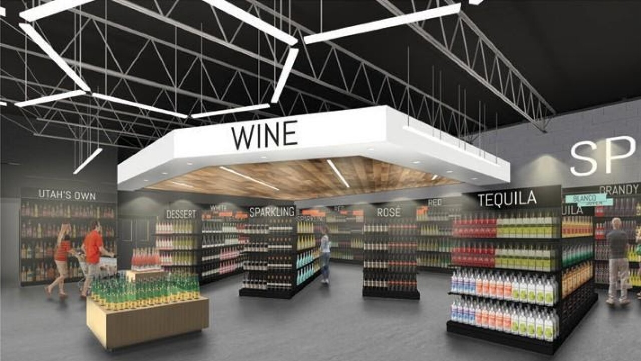 State Liquor and Wine Store in Saratoga Springs - Wine Section