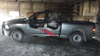 Vandals torch Musselshell County sheriff's truck