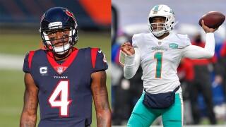 Deshaun Watson and Tua Tagovailoa, Dolphins trade rumors