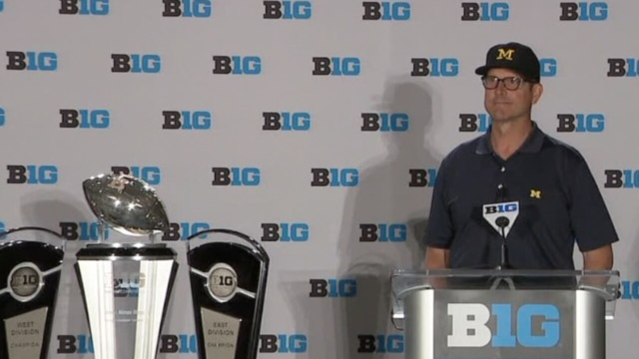 WATCH: Jim Harbaugh's press conference from Big Ten media days