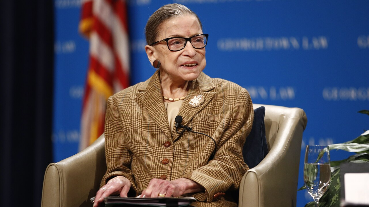 Justice Ruth Bader Ginsburg back in the hospital