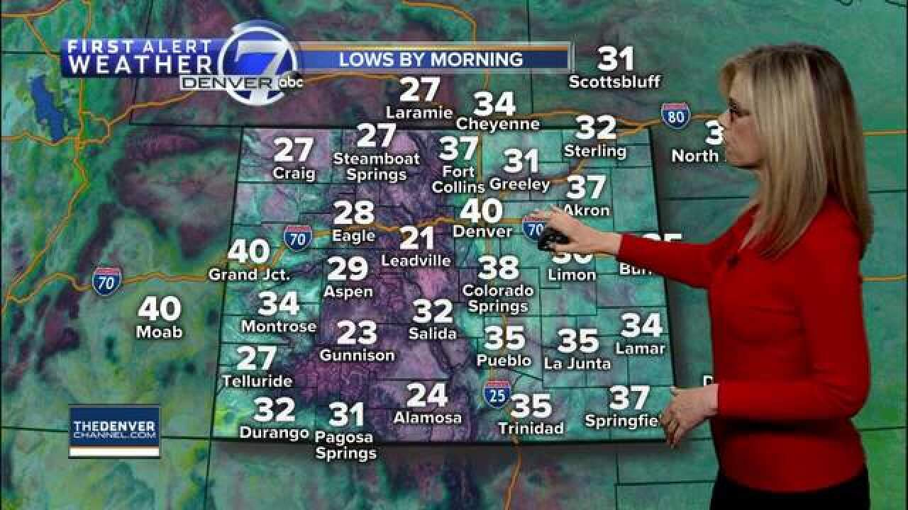 A nice mild weekend ahead for Denver