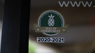 East Lake Cafe in Palm Harbor, Seal of Commitment decal.