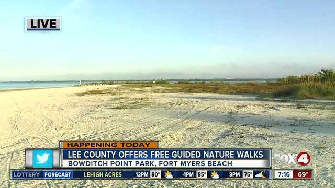 Lee County offers free guided nature walks