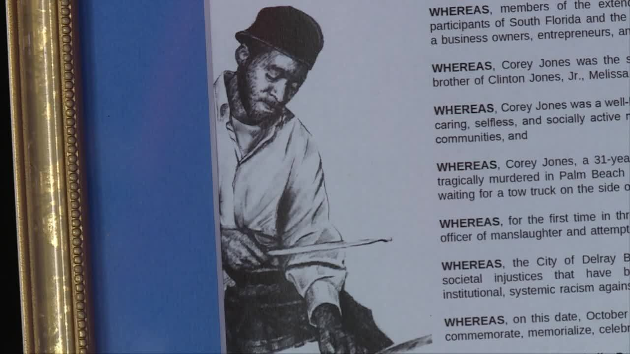 Closeup of proclamation for 'Corey Jones Memorial Day'