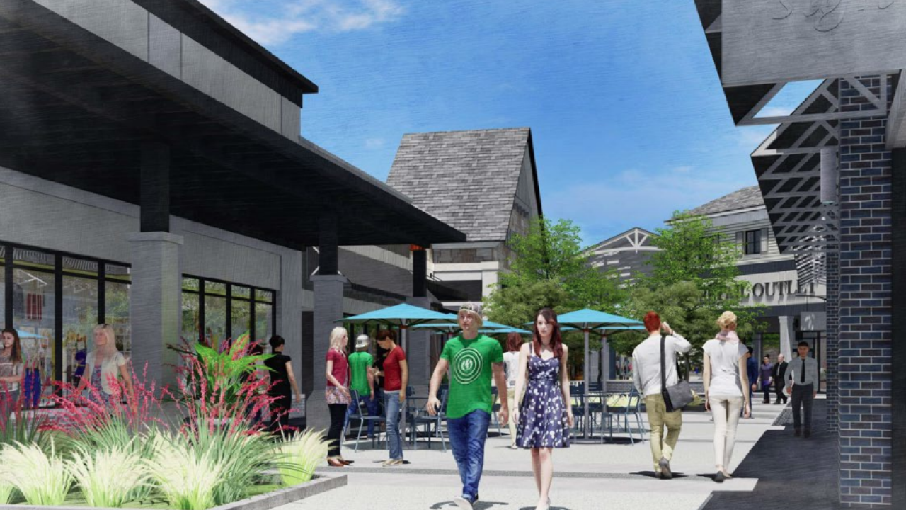 The Tulsa Premium Outlets are expected to have 80 stores. Courtesy: Simon Premium Outlets