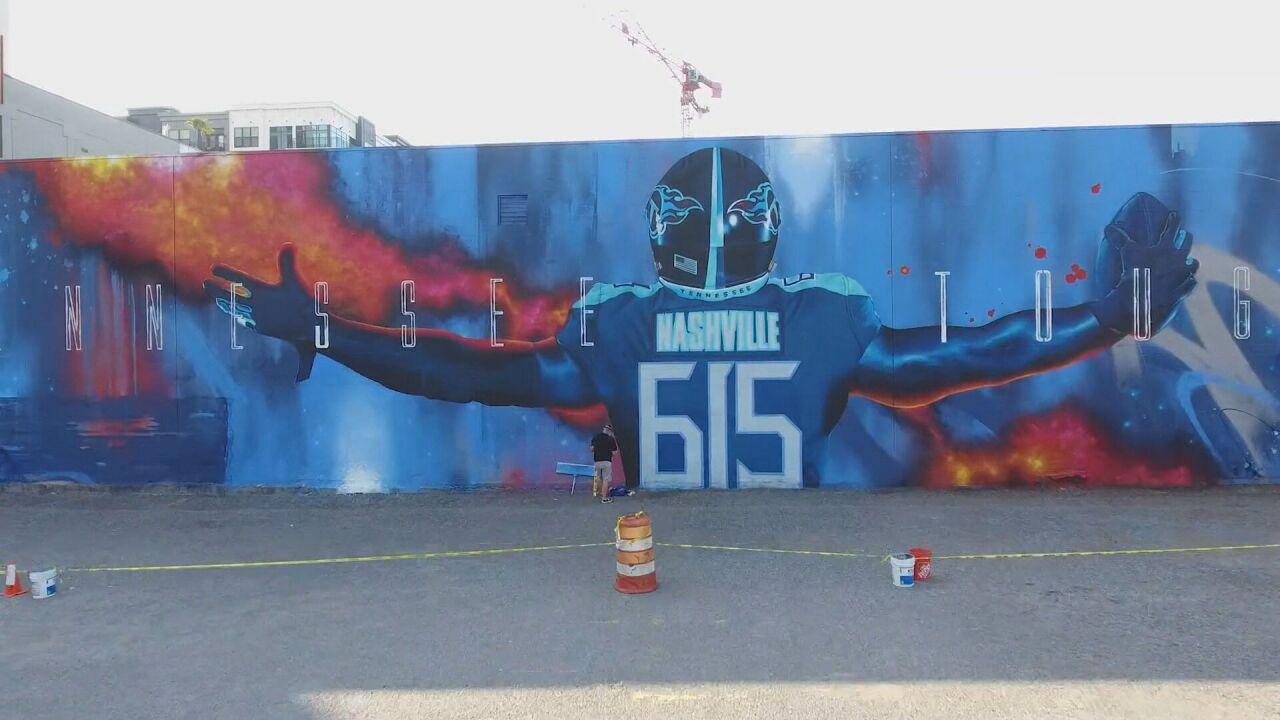 titans ar mural