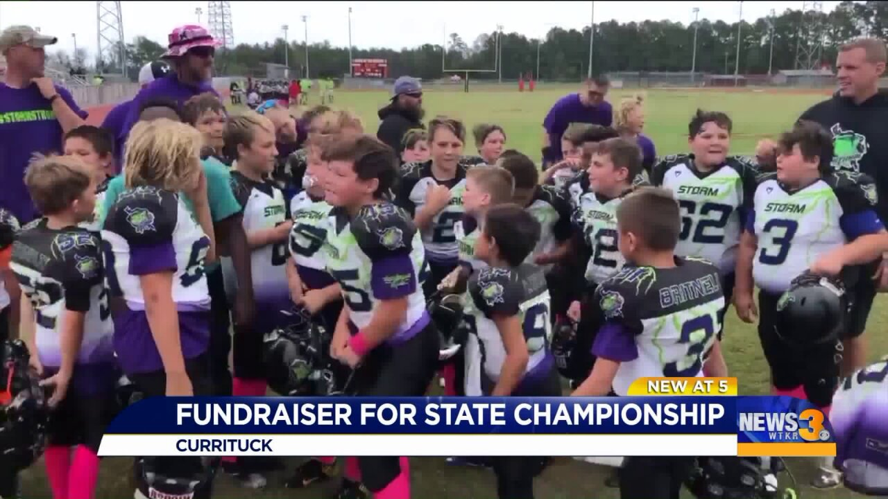Currituck Co. football team rallying around player with tumor, raising funds for state championships