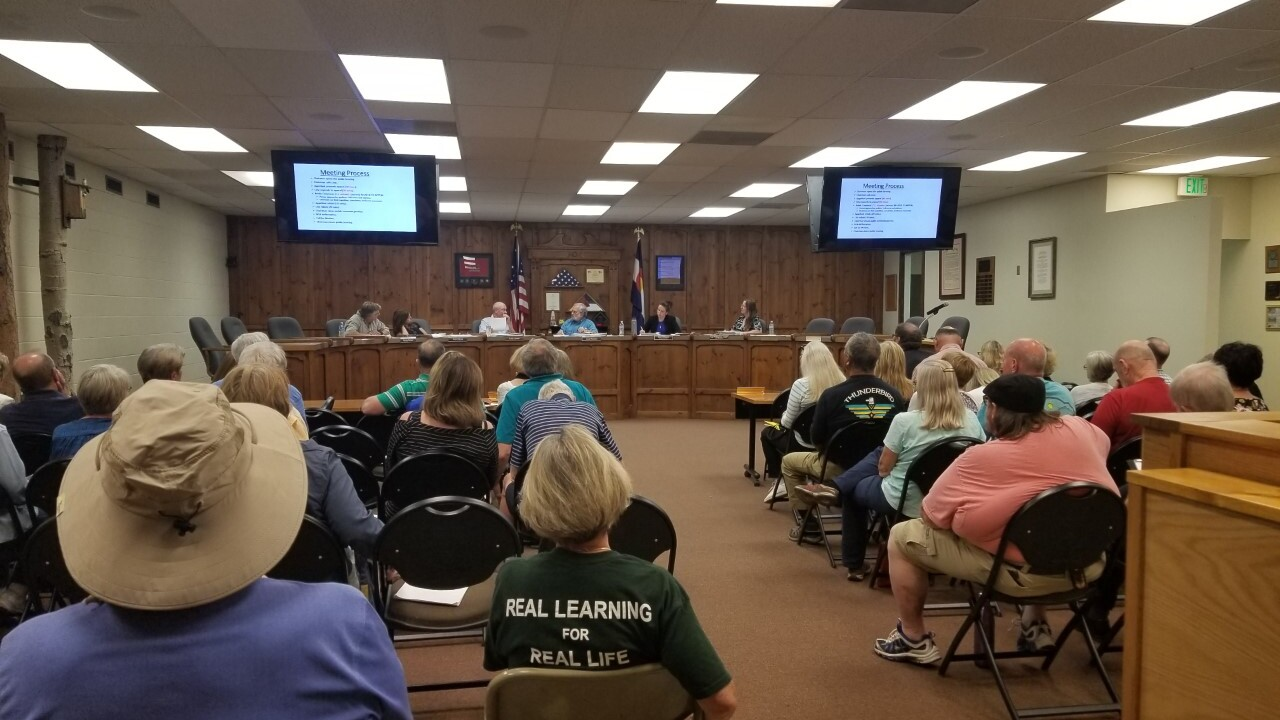 Meeting at Woodland Park City Hall to discuss proposed Village at Tamarac