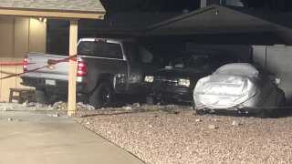 Truck into Glendale Home