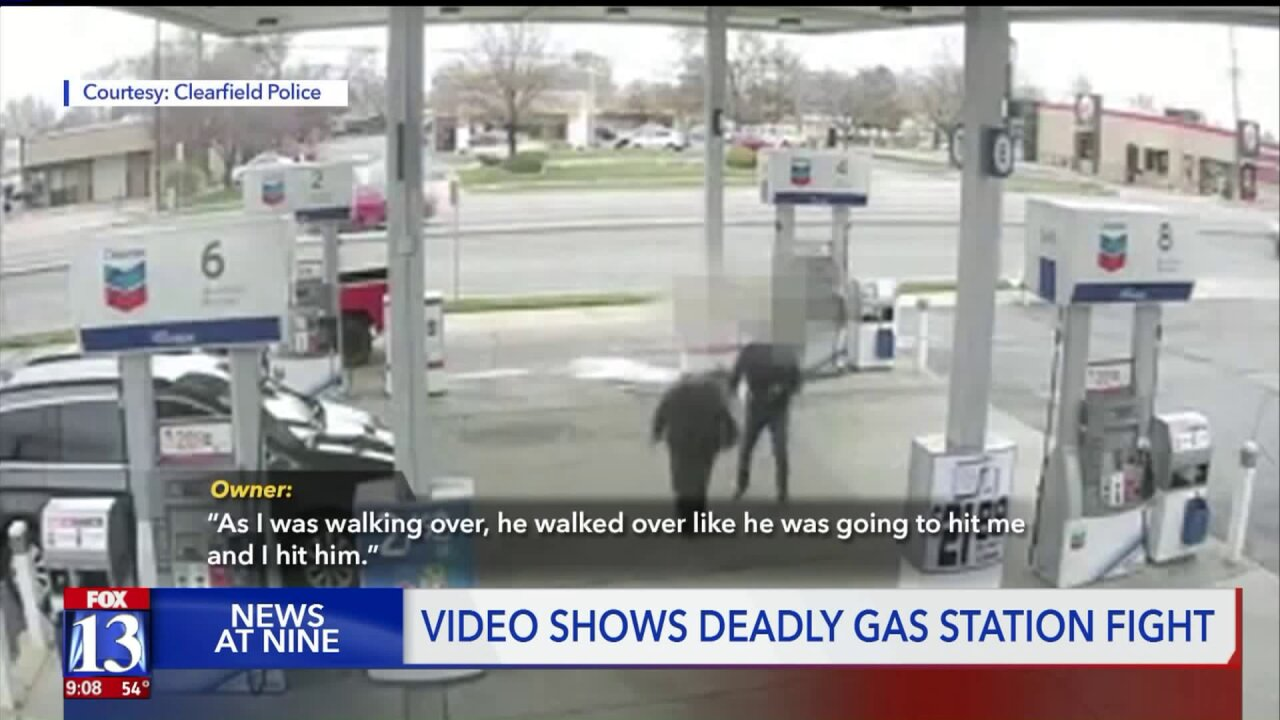 Newly released video shows deadly Clearfield gas stationfight