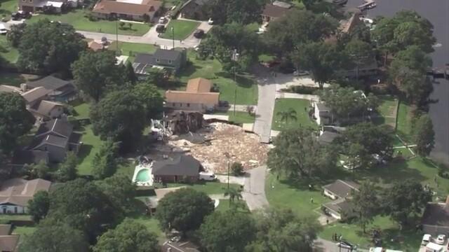 Pics: Land O'Lakes sinkhole swallows two homes