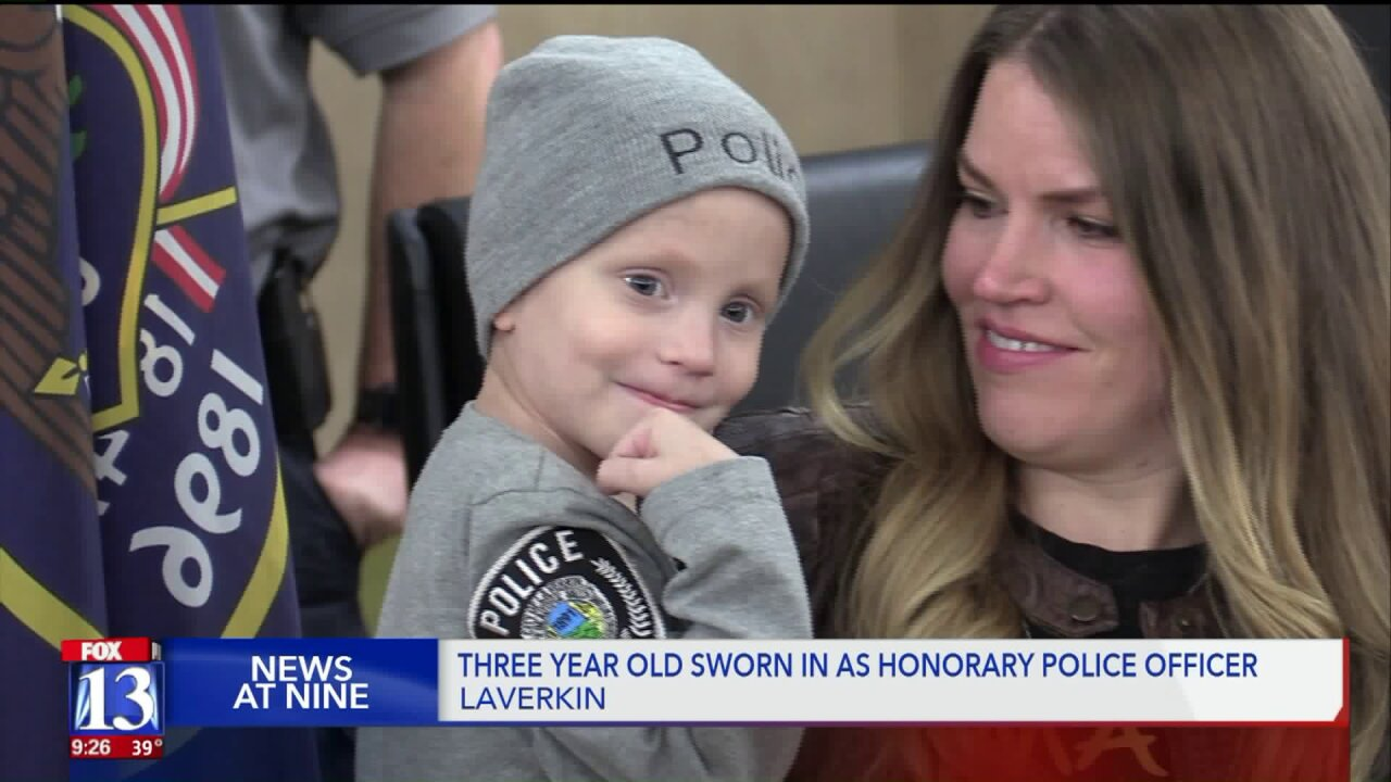 3-year-old sworn in as La Verkin Junior Police Officer