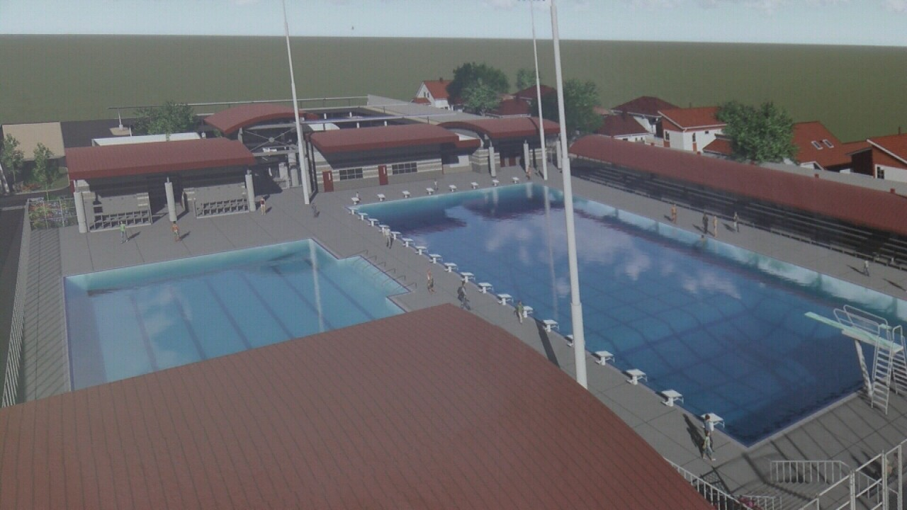 Projection of potential pool at Paso Aquatic Center