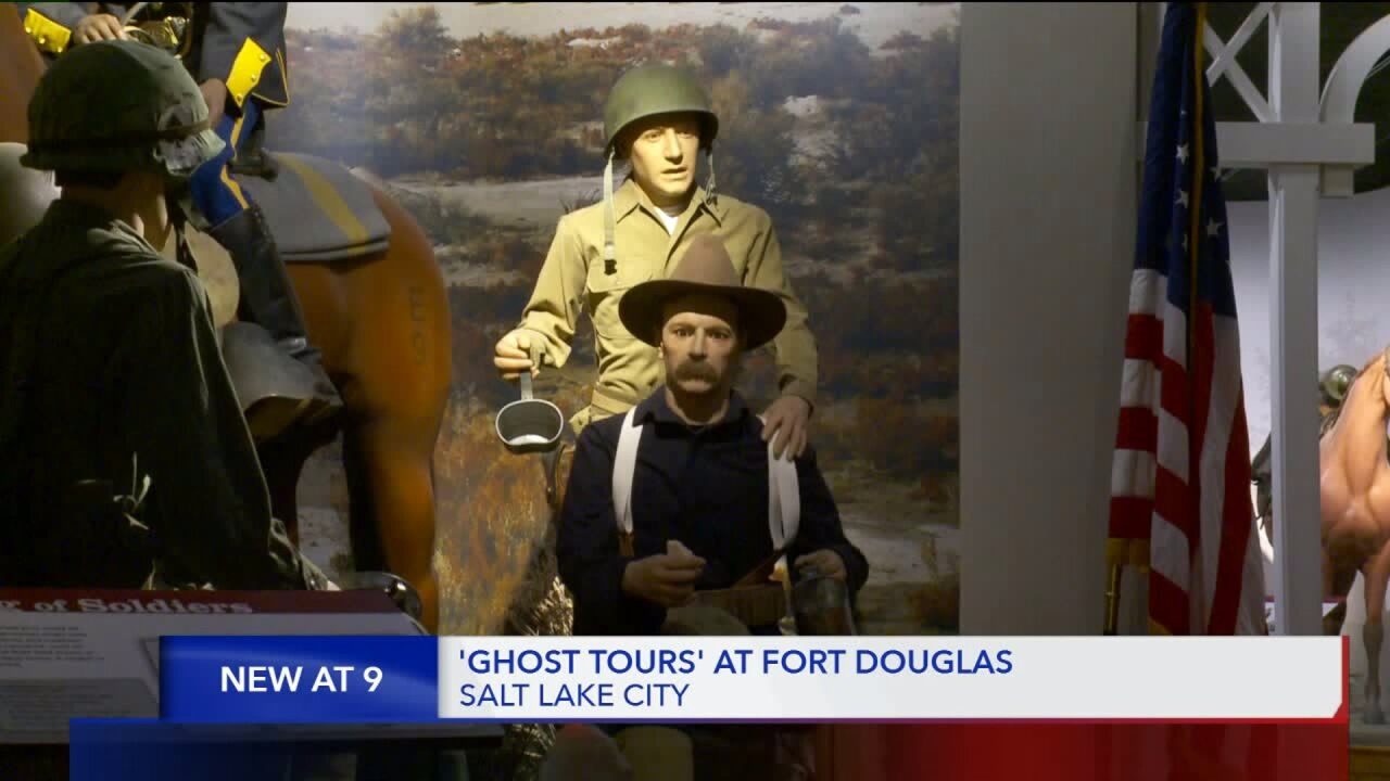 To get in the Halloween spirit, take a 'Ghost Tour' at the Fort Douglas Military Museum