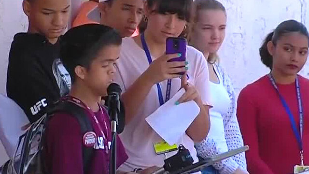 South Florida students walk out of class to protest gun violence