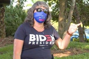 Nancy, a Cuban-American supporter