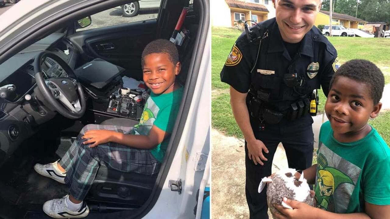 A 6-year-old Florida boy called 911 in search of a friend. A police officer responded