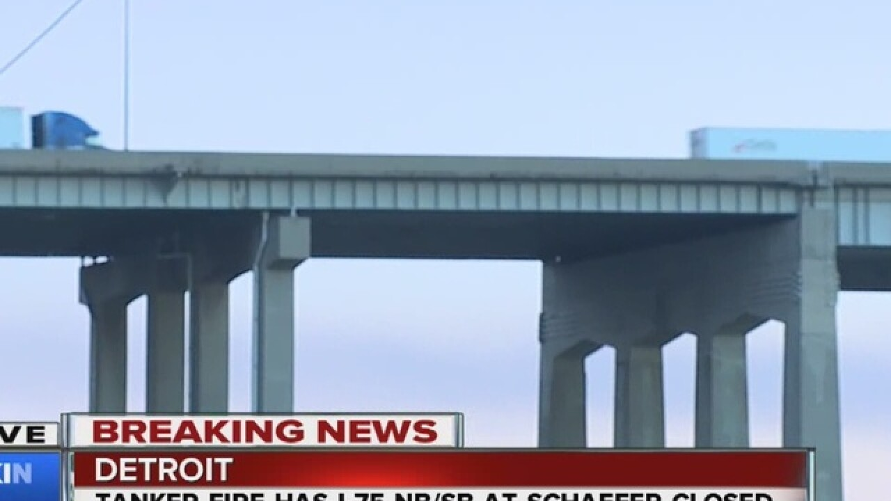 I-75 NB & SB shut down on Rouge River Bridge