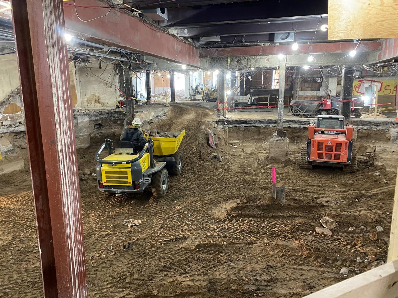 Statler basement construction 1