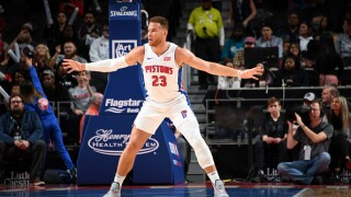 Blake Griffin is back in the lineup for the Pistons for the first time this season