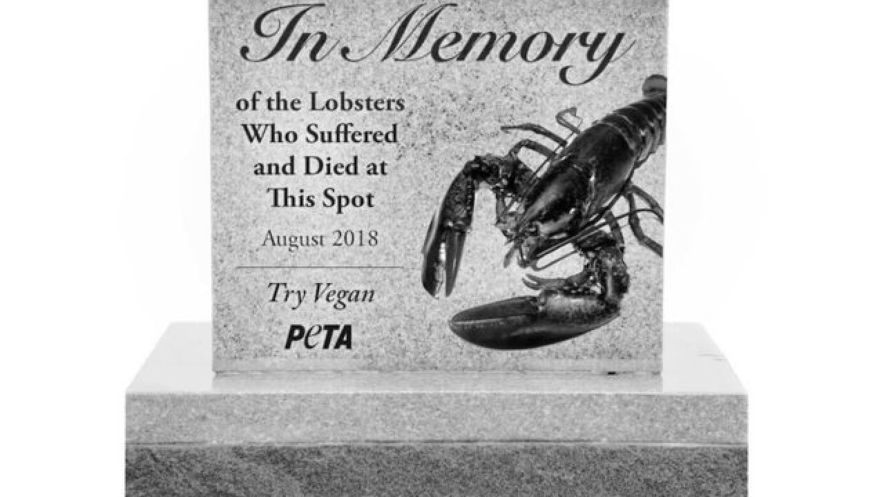 PETA wants to erect a roadside memorial for lobsters killed in a car wreck