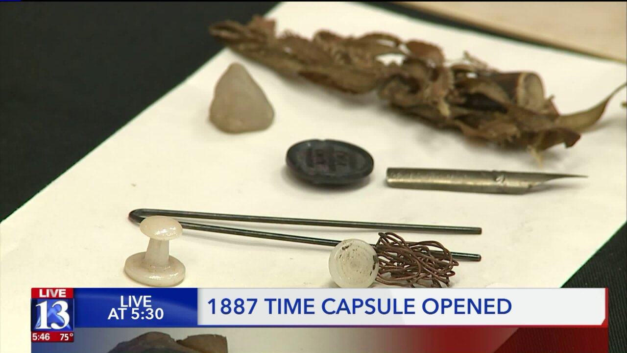 Time capsule from 1887 opened by Ogden school