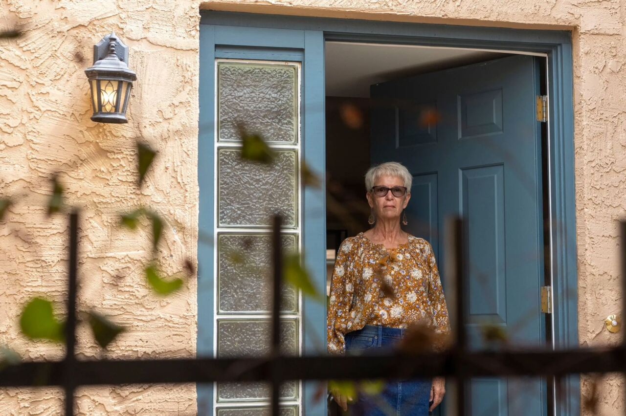 Mary Kay Dieterich, the daughter of Eugene Forti, a World War II veteran who died of COVID-19 at the Ambrosio Guillen Texas State Veterans home in El Paso, believes her dad got poor care after the virus struck the facility. Credit: Nick Oza for the Houston Chronicle
