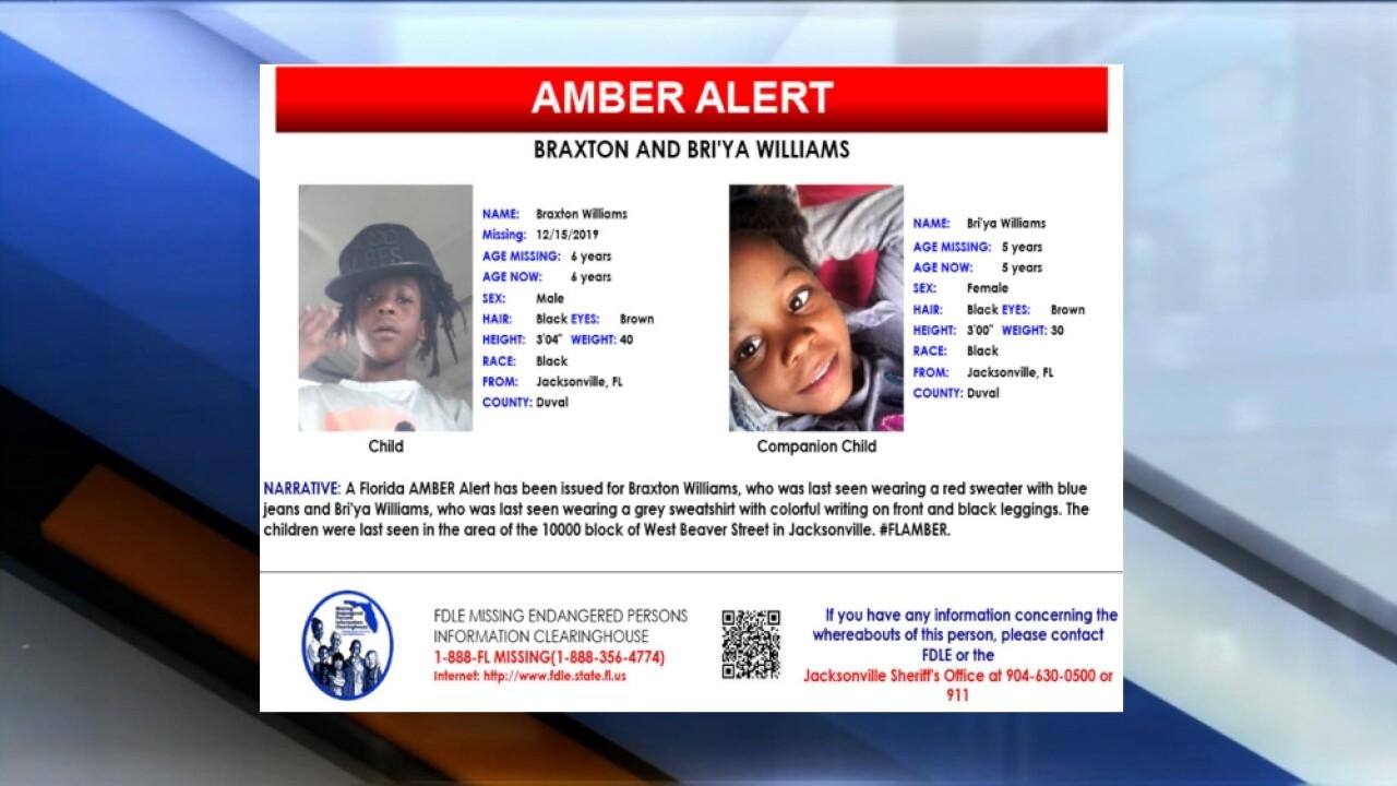 Amber Alert issued for 2 children missing out of Jacksonville, Florida
