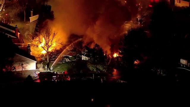 GALLERY: Firefighters battle flames at 55-plus living community in Aurora Friday evening