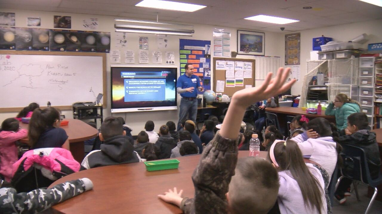 Storm Safe visit at Roosevelt Charter Academy