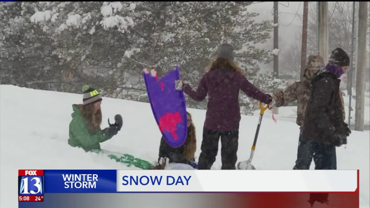 Salt Lake Valley schools see first snow day in nearly twodecades