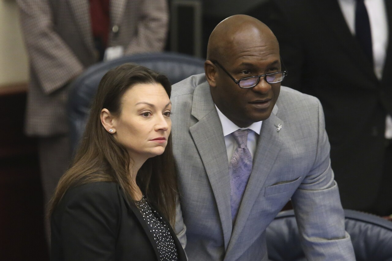 Florida Rep. Bobby DuBose with Agriculture Commissioner Nikki Fried in 2020